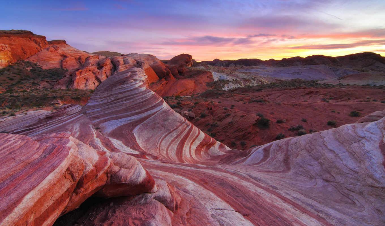 пустыня, природа, скалы, небо, узоры,