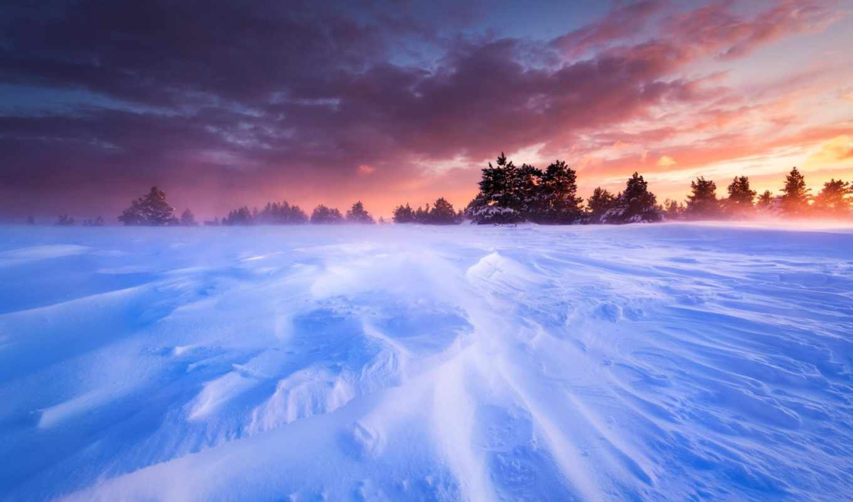 прованс, франция, снег, природа, plain,