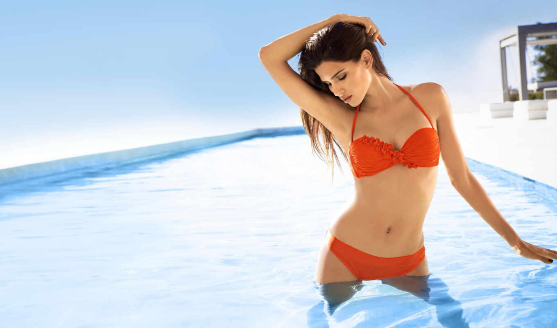девушка, бассейн, raica, купальник, девушки, oliveira, модель, devushka,