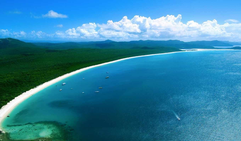 пляж, whitehaven, австралия, whitsundays, остров, travel, whitsunday,
