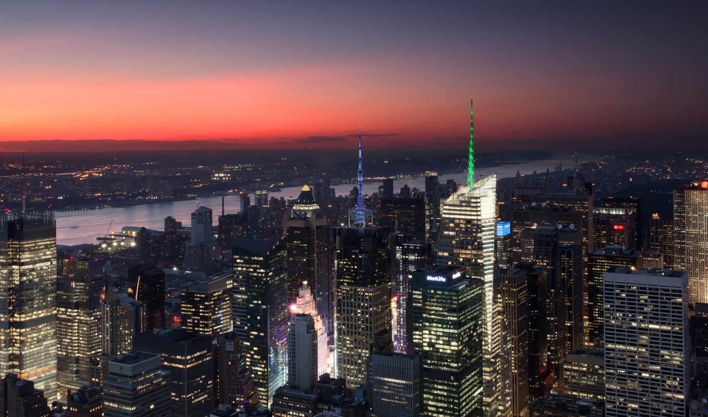 york, new, нью, город, небоскребы,
