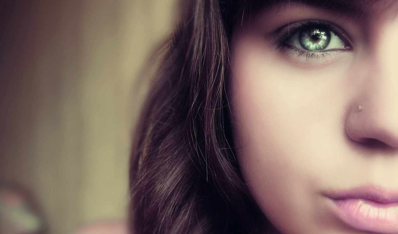 девочка, лицо, глаз, губы,