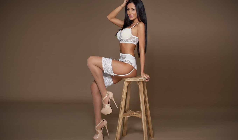 кресло, белье, белое белье,