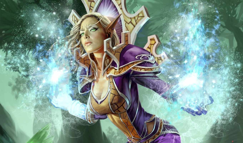 warcraft, world, маг, мага, wow, эльфийка,
