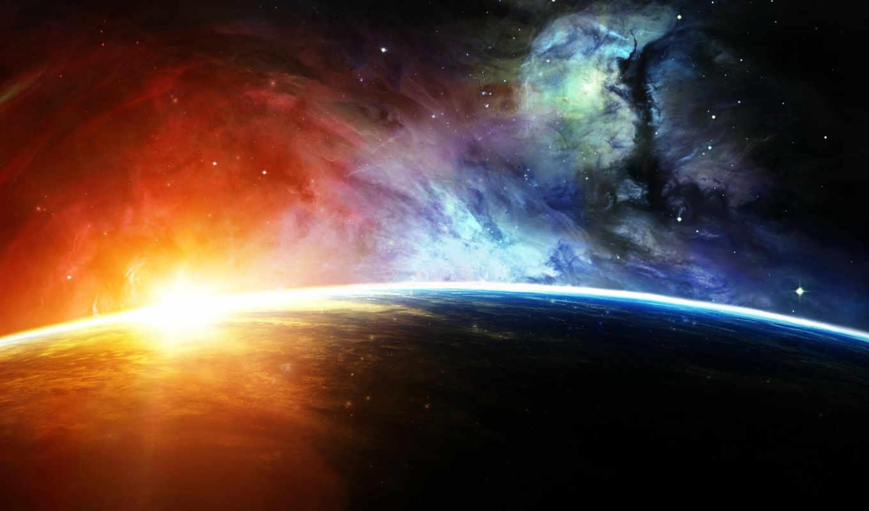 планета, space, свет, nebula, звезда, арт, нояб, света, звезды,
