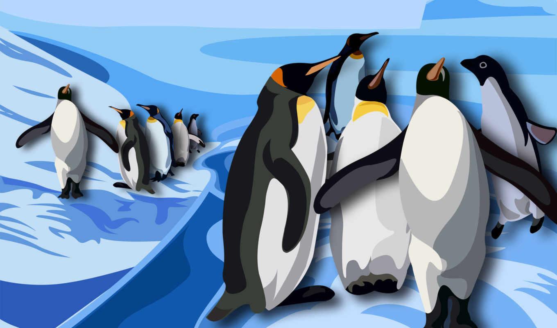 графика, пингвины, антарктида, рисунок, пингвин, arctic,арктику,рисунки