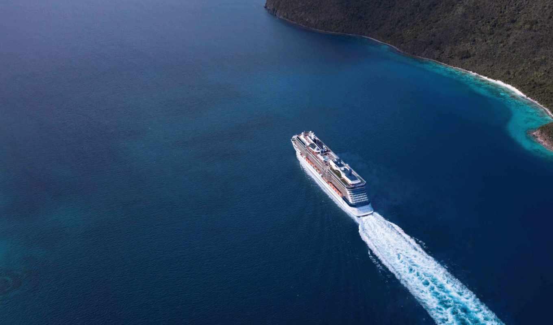 лайнер, корабль, море, пассажирский,