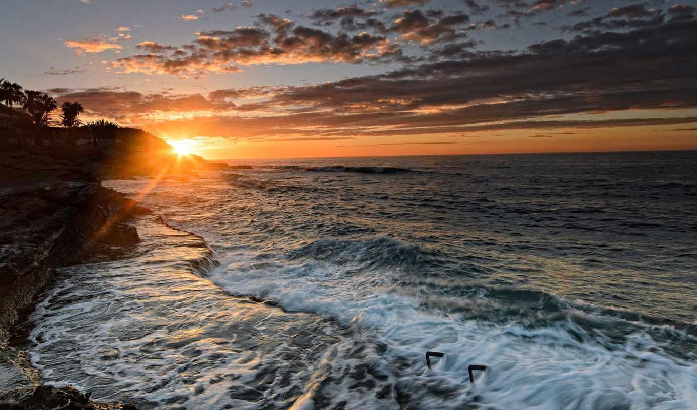 alicante, испания, средиземное, море, valencia, закат, побережье,