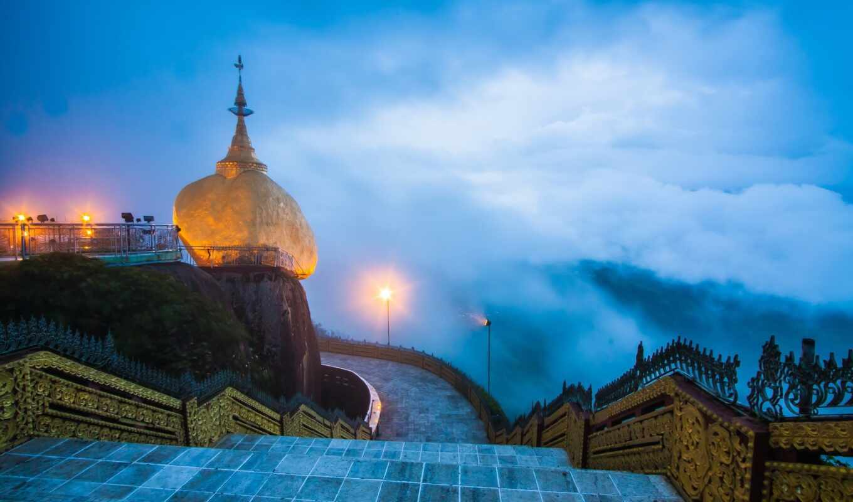 myanmar, tourist, пагода, золотистый, rock, yangon