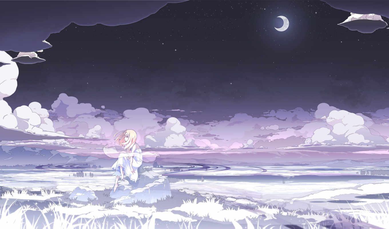 moon, anime, wallpaper, wallpapers, girls, free, а