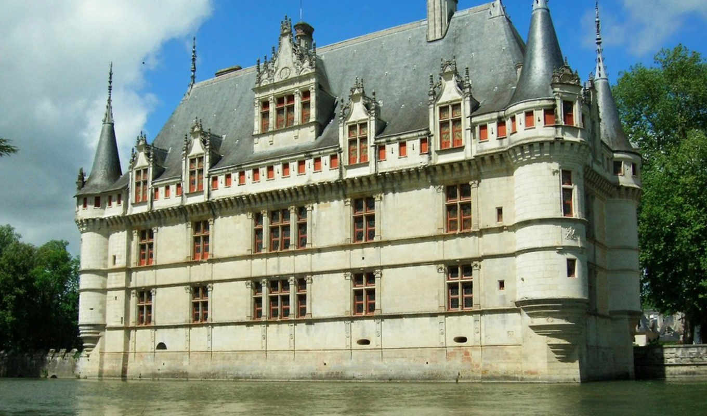 rideau, azay, ридо, азай, замок, tours, франция, xvi, города,