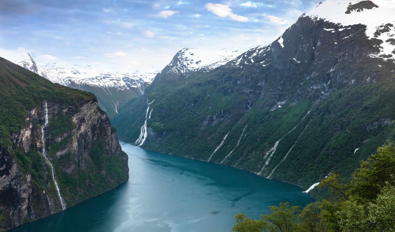 норвегия, ford, geiranger, горы, geirangerfjorden,