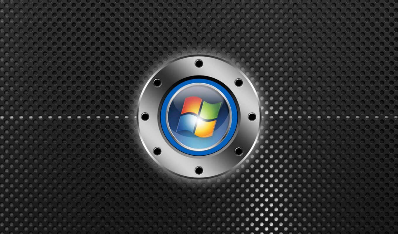windows, лого, хромированный, решётка