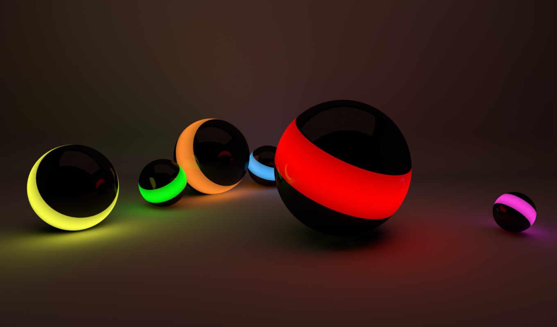 шары, рендеринг, подсветка, картинку, кнопкой, правой, рисунки, картинка,