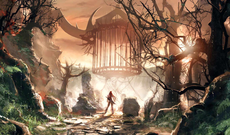 heavenly, sword, клетка, воин, горы, смотрите, кредит, фэнтази, картинку, картинка, мир, номером, похожие,