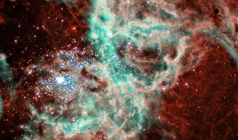 космос, звезды, хабл, галактика, туманность, яркий, зелёная, картинка, картинку, doradus,