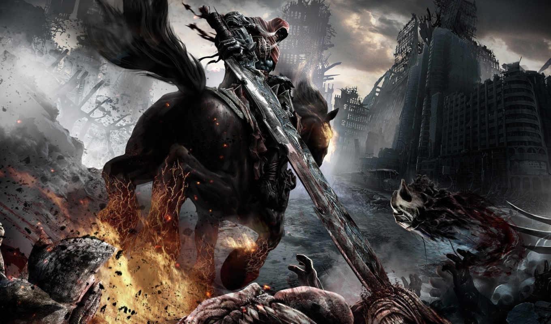 darksiders, фотографии, you, всадник, this, war, wrath, death, lives, конь, популярные,