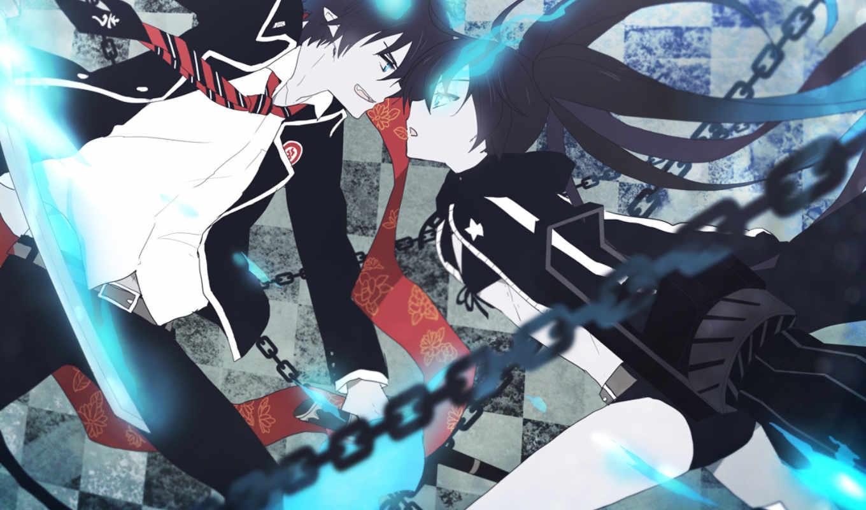 аниме, стрелок, скалы, черной, shooter, rock, black,
