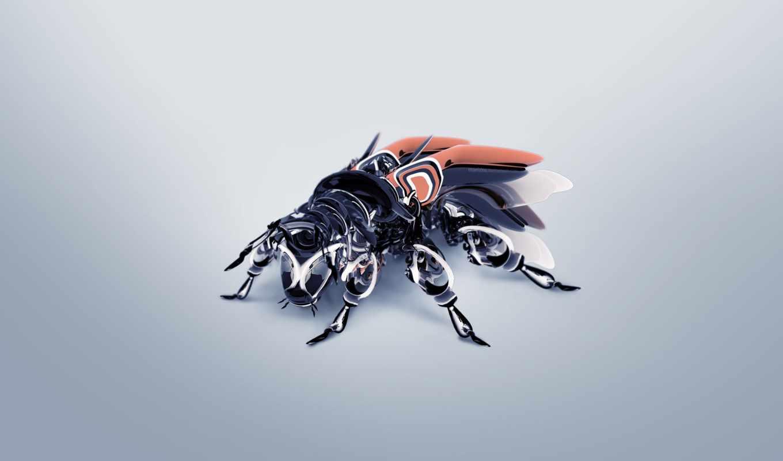 fly, robot, графика, штучная,