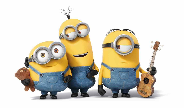 миньон, банан, праздник, metoda, yellow, cartoon, case, они