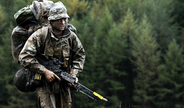 оружие, солдат, лес, военная, форма,