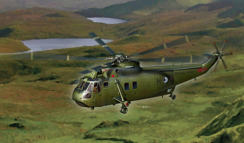 американский, вертолёт, sh-3g, sea king, ВС США, рисунок, художник, vincenzo auletta