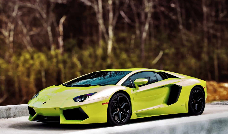 aventador, lamborghini, зелёный, суперкар, supercars,