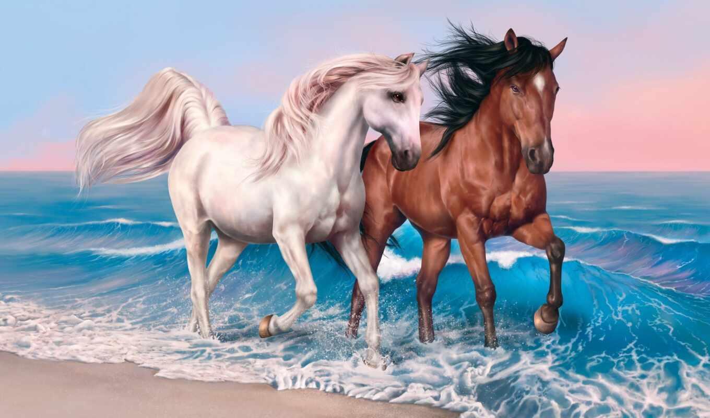 лошадь, diamond, картинка, прыжок, вышивка, caballo, pantalla, биг, доставка, free, живопись