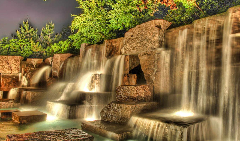 водопад, landscape, hdr, waterfalls, пейзажи, digital, во, природа, дворце, mixed, amazing, facebook, cascada, agua, manipulated, free, widescreen,