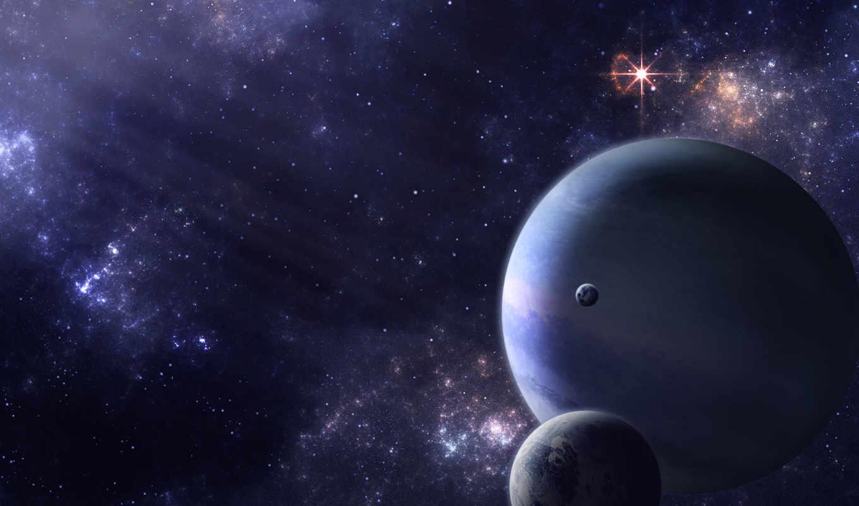 звезды, планеты, свет, спутники, пространство, картинка, картинку,