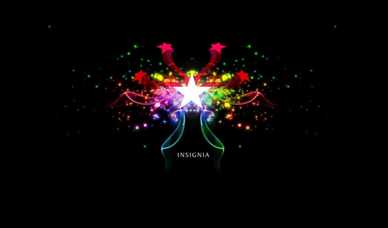 цветные, звёздочки, insignia, минимализм,