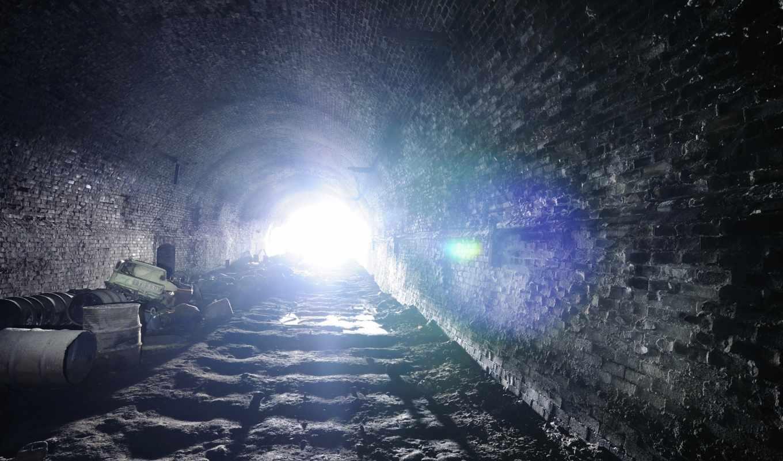 svet, туннель, тоннель, мусор, кладка, стены,