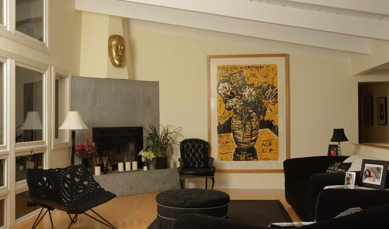 ,диван, стул, камин, кресло, интерьер
