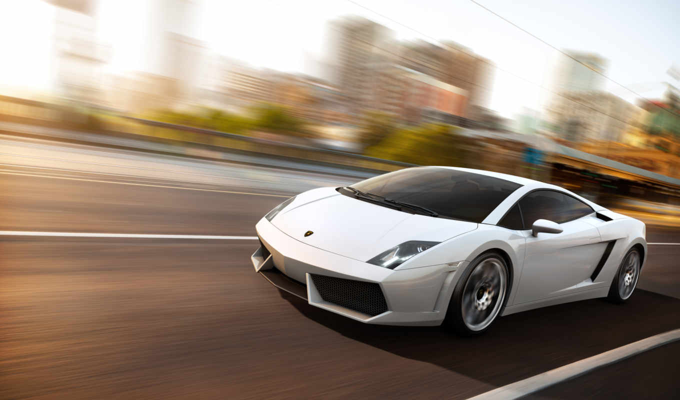 lamborghini, cars, white,
