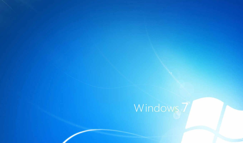 windows, 7, blue, white