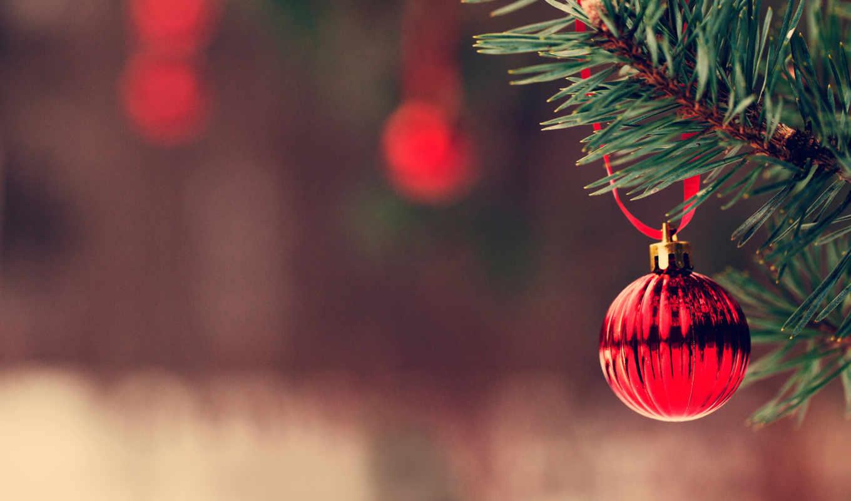 new, год, winter, праздник, branch, шарики, настроение,