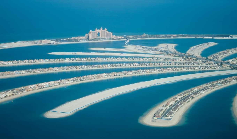 острова, ocean, palm, искусственые, dubai, дома,