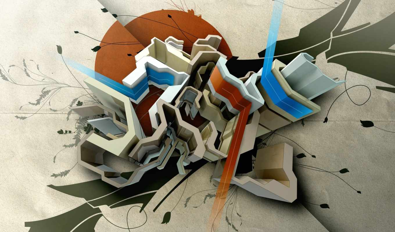 fusion, фигуры, графика, abstract, ipad,