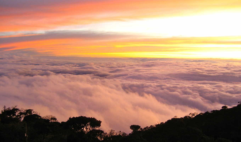 height, горы, природа, oblaka, ярлыки, небо, дек,