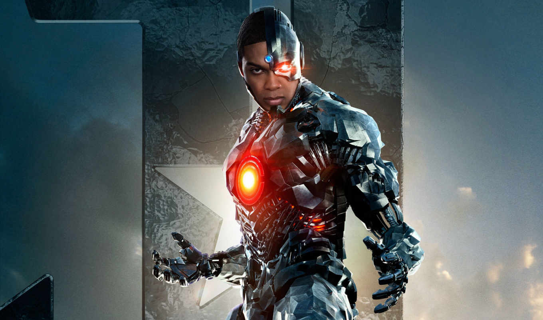 movie, league, comics, justice, cyborg,