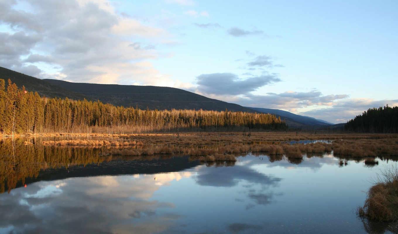 природа, восход, nevseoboi, озеро, качественные,