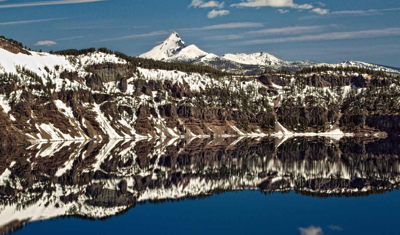 разных, поверхности, разрешениях, озеро, зеркальной, crater,
