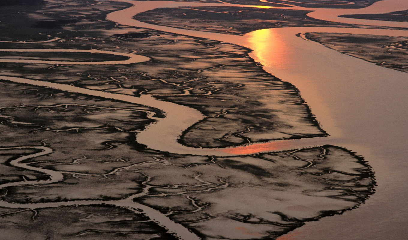 marsh, salt, carolina, south, aerial, view, wallpa