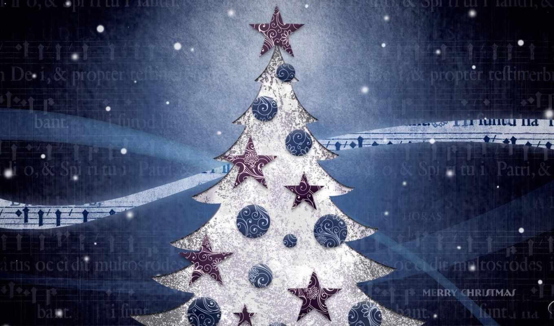 рождество, год, праздник, новый, елка, синий, настроение, игрушки, картинка,