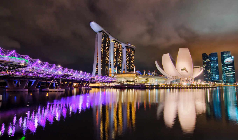 singapore, ночи, остров, ночь, марина, сингапуре, bay,