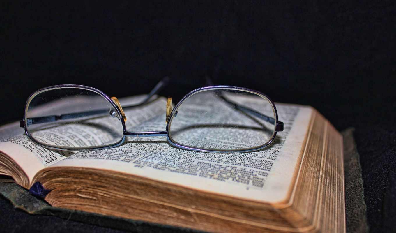 книга, очки, старая, black, страница,