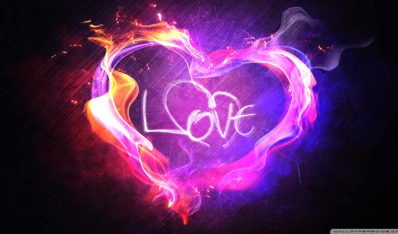 love, признание, сердце, пламя, рендеринг