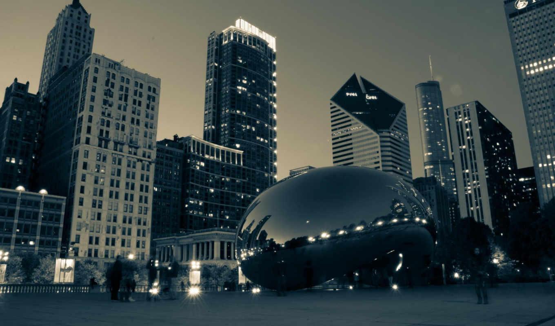 chicago, иллинойс, park, usa, марта,