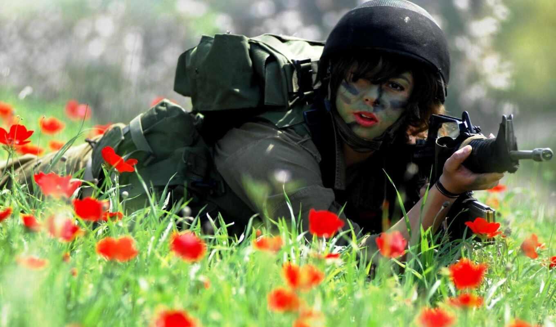 девушки, девушек, форме, военной, оружия, фотографии, фотографий, янв, два,