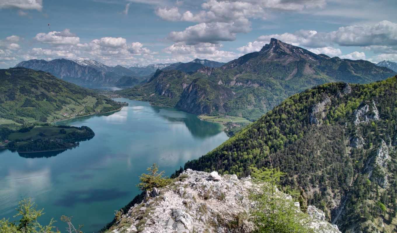 горы, красивые, высокого, ozero, количество, высокое, разрешения, мб,